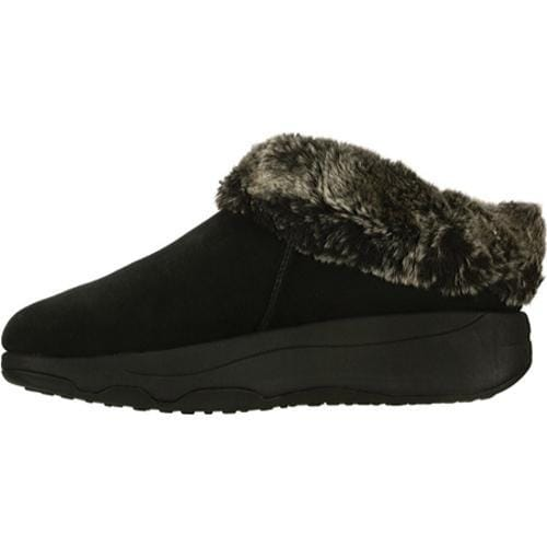Women's Skechers Tone Ups Spindrift Faux-Fur Black Shoes