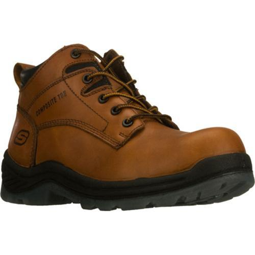 Men's Skechers Work Sierra Rigor Comp Toe ESD Brown