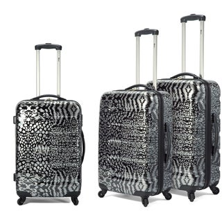 Benzi 3-piece Lightweight Fashion Spinner Hardside Luggage Set