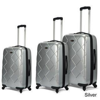 Benzi 3-piece Multidirectional 4-wheel Hardside Spinner Luggage Set
