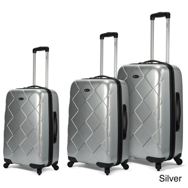 Benzi 3-piece Multidirectional 4-wheel Hardside Spinner Luggage Set