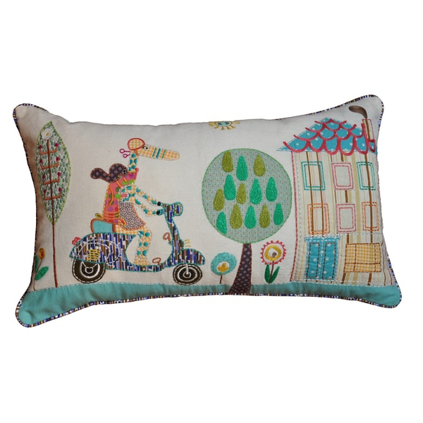Cottage Home Vespa Decorative Pillow