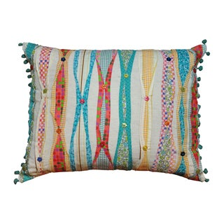 Cottage Home Ribbon Decorative Pillow