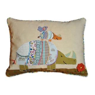 Cottage Home Rhino Decorative Throw Pillow