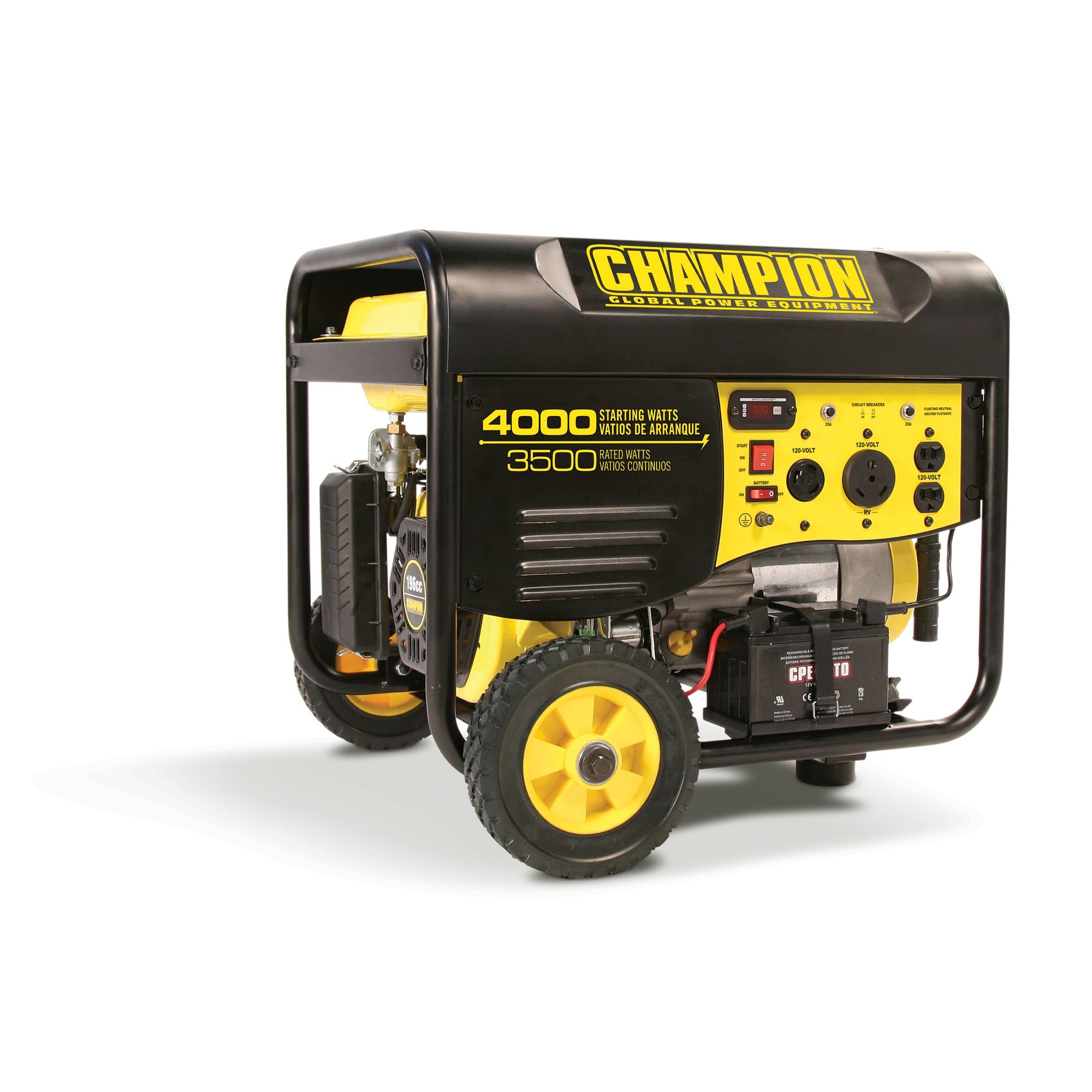 Overstock.com Champion 3500 Watt Portable Generator with Remote Electric Start & RV Outlet at Sears.com