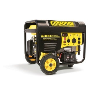 Champion 3500 Watt Portable Generator with Remote Electric Start & RV Outlet