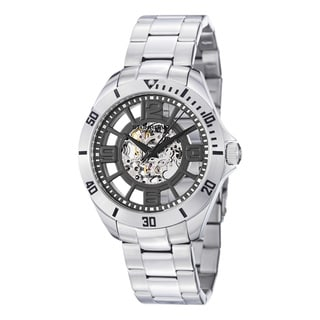 Stuhrling Original Men's Neo Winchester Skeleton Stainless Steel Watch