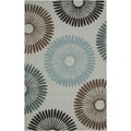 Hand-hooked Covington Indoor/Outdoor Geometric Rug
