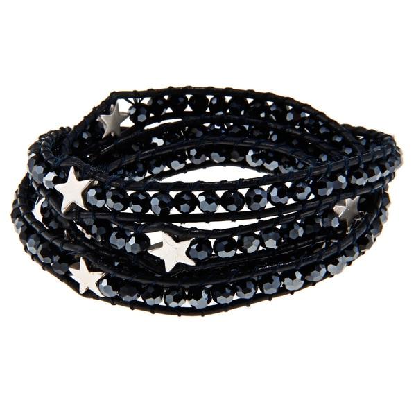 Blue Star-embellished Wrap Bracelet