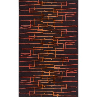 Noah Packard Desing Hand-tufted Signature Abstract Plush Wool Rug