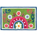 Jellybean 'Tamarind Medallion Blue' Indoor/ Outdoor Accent Rug (1'9 x 2'9)