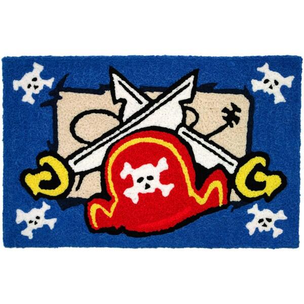 Jellybean 'Pirate's Hat and Swords' Indoor/ Outdoor Accent Rug (1'9 x 2'9)