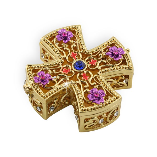 Objet d'art 'Crux Quadrata' Cross Trinket Box