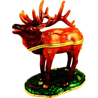 Objet d'art 'The American Elk' Trinket Box