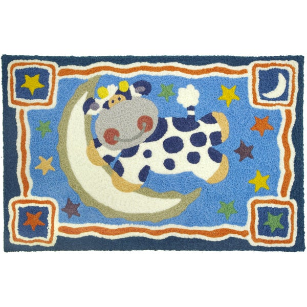 Jellybean 'Cow Jumped Over The Moon' Indoor/ Outdoor Accent Rug (1'9 x 2'9)