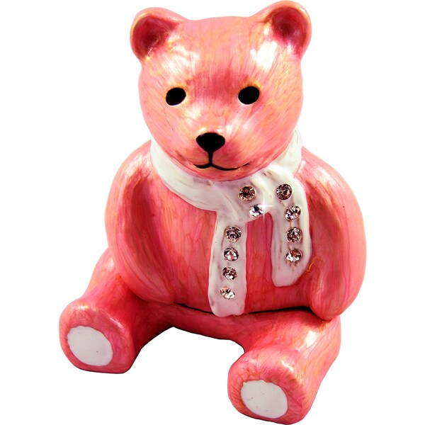 Objet d'art 'Madeline' Bear Trinket Box