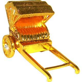 Objet d'art 'Golden Rickshaw' Trinket Box