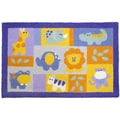 Jellybean 'Nursery Friends' Indoor/ Outdoor Accent Rug (1'9 x 2'9)