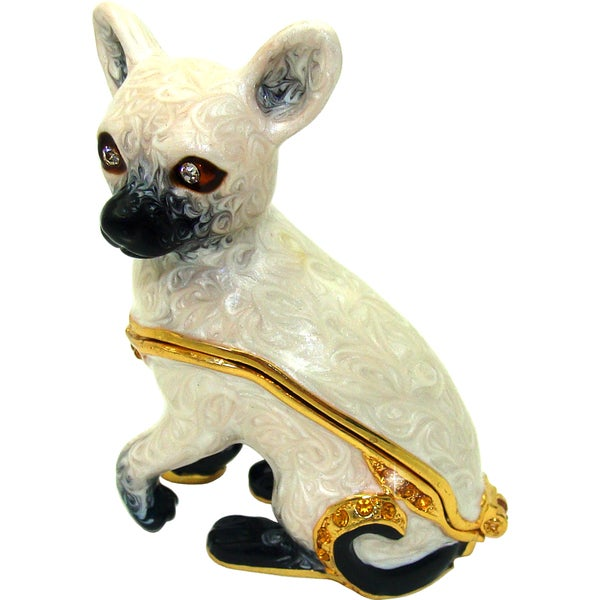 Objet d'art 'Siamese Cat' Trinket Box