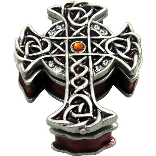 Objet d'art 'St Patrick's Celtic Cross' Celtic Cross Trinket Box