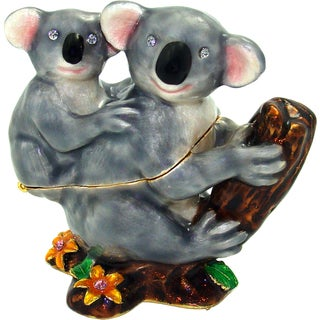 Objet d'art 'Koala and Joey' Koala Trinket Box