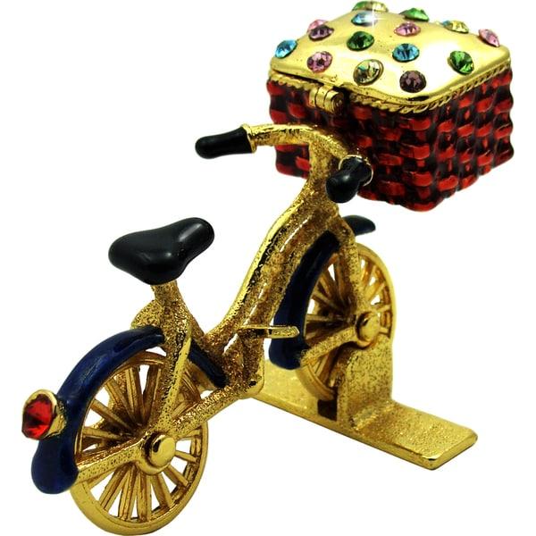 Objet d'art 'La Biccletta' The Bicycle Trinket Box