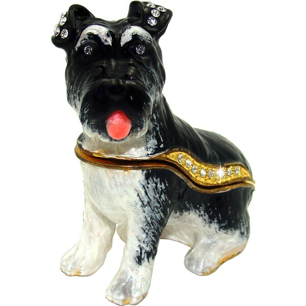 Objet d'art 'Das Schnauzer' Dog Trinket Box
