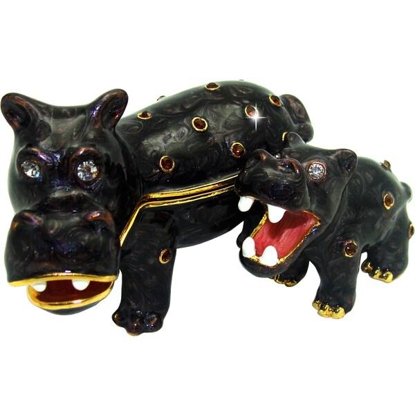 Objet d'art 'Hippity Hippo' Trinket Box