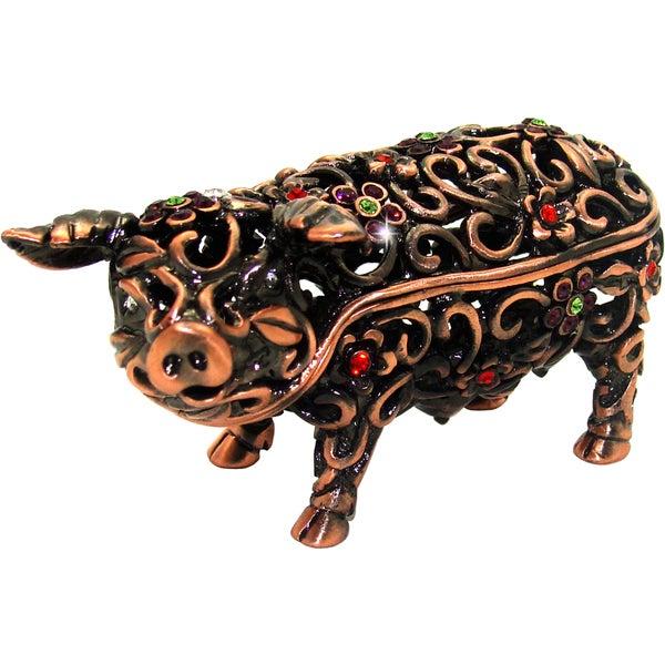 Objet d'art 'Angarika' Pig Trinket Box