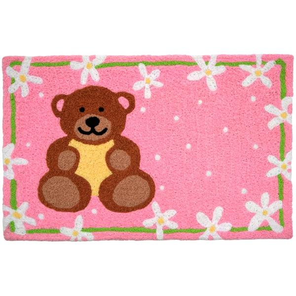 Jellybean 'Teddy Bear and Daisies' Indoor/ Outdoor Accent Rug (1'9 x 2'9)