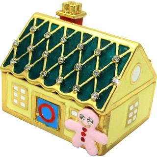 Objet d'art 'Sweet Dreams' Ginger Bread House Trinket Box