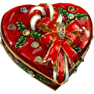 Objet d'art 'Holiday Sweet' Heart Trinket Box