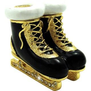 Objet d'art 'Tripple Axel' Ice Skates Trinket Box