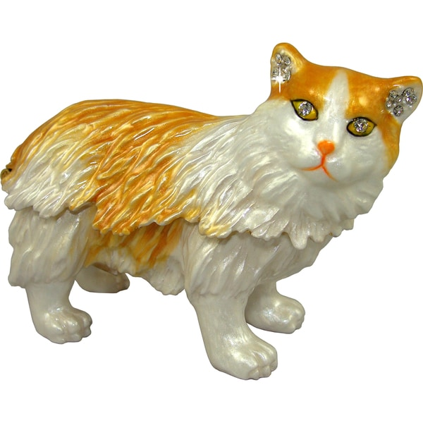 Objet d'art 'Siberian Cat' Trinket Box