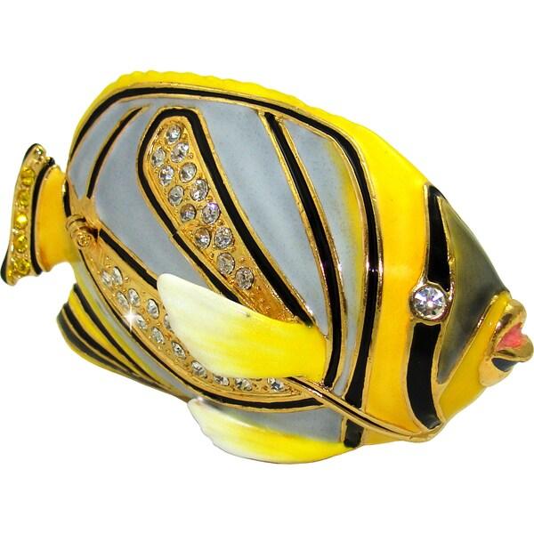 Objet d'art 'Meyer's Butterfly' Fish Trinket Box
