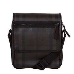 Burberry Small Smoked Check Chocolate Crossbody