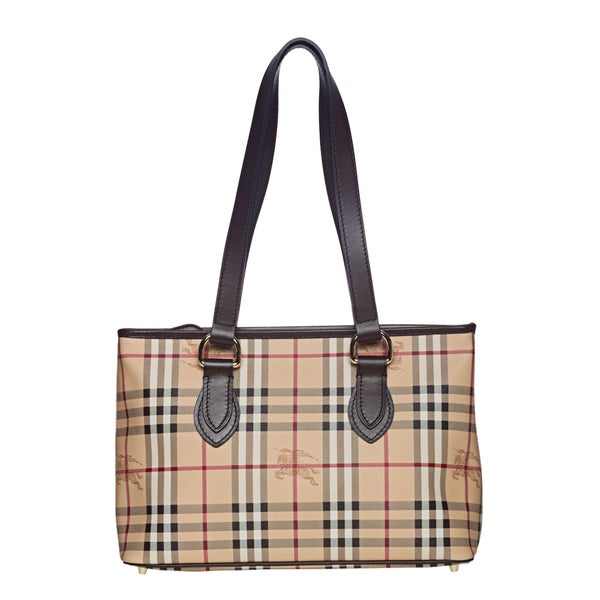 Burberry Medium Haymarket Check Tote