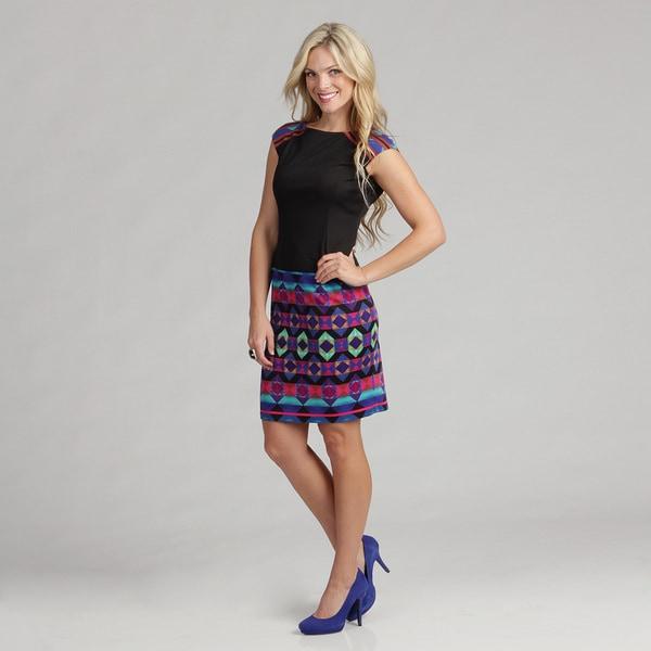 London Times Women's Printed Ponte Dress