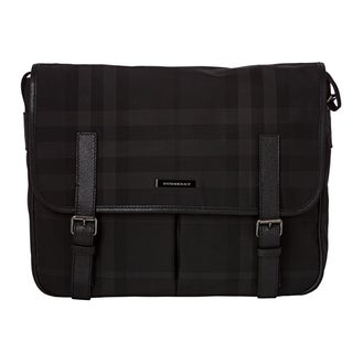 Burberry Medium Beat Check Messenger Bag