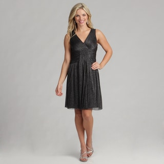 London Times Women's Twinkle Mesh Dress