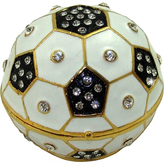 Objet d'art 'Kickin It' Soccer Ball Trinket Box
