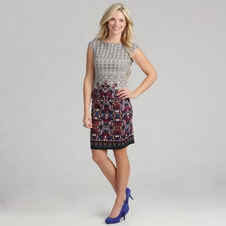 London Times Women's Printed Ponte Dress
