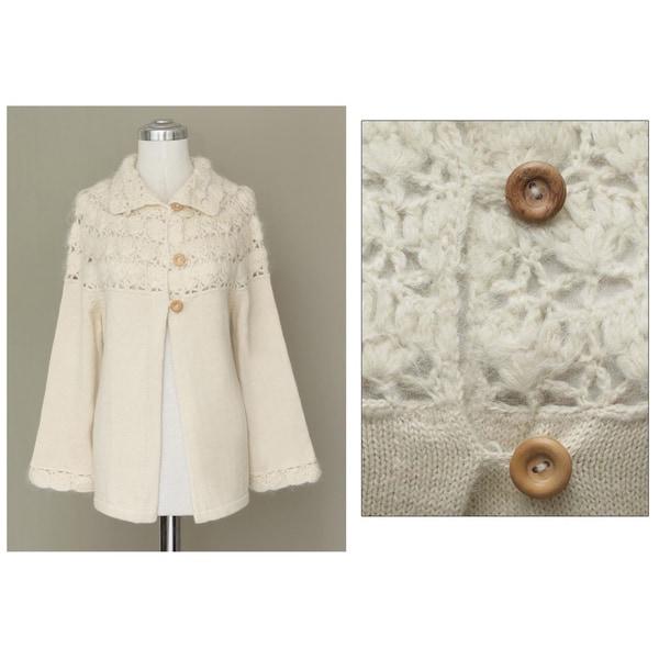 Alpaca Wool 'Snow Princess' Sweater (Peru)