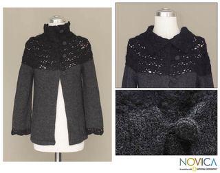 Alpaca Wool 'Night Princess' Sweater (Peru)