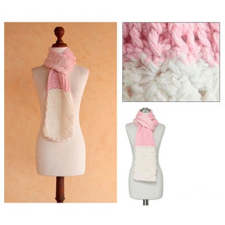 Alpaca 'Lovely Rose' Scarf (Peru)