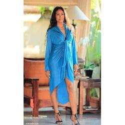 Rayon Jersey 'Sapphire Grace' Jacket (Indonesia)