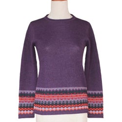 Alpaca 'Inca Grape' Sweater (Peru)