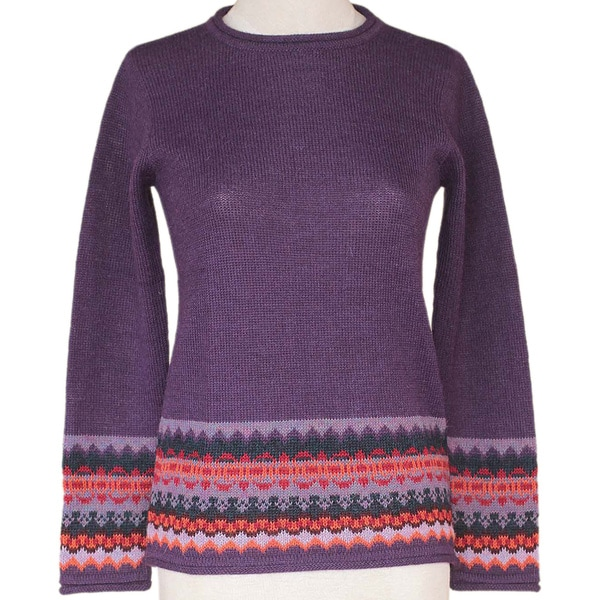Alpaca 'Inca Grape' Sweater (Peru) 10045864