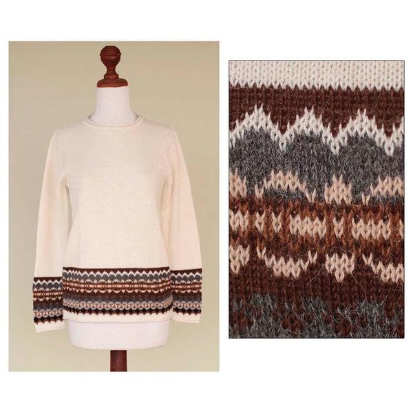 Alpaca 'Inca Ivory' Sweater (Peru) 10045872