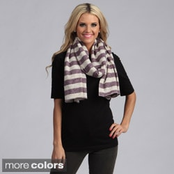 Cashmere Showroom Rugby Stripe Cotton Scarf